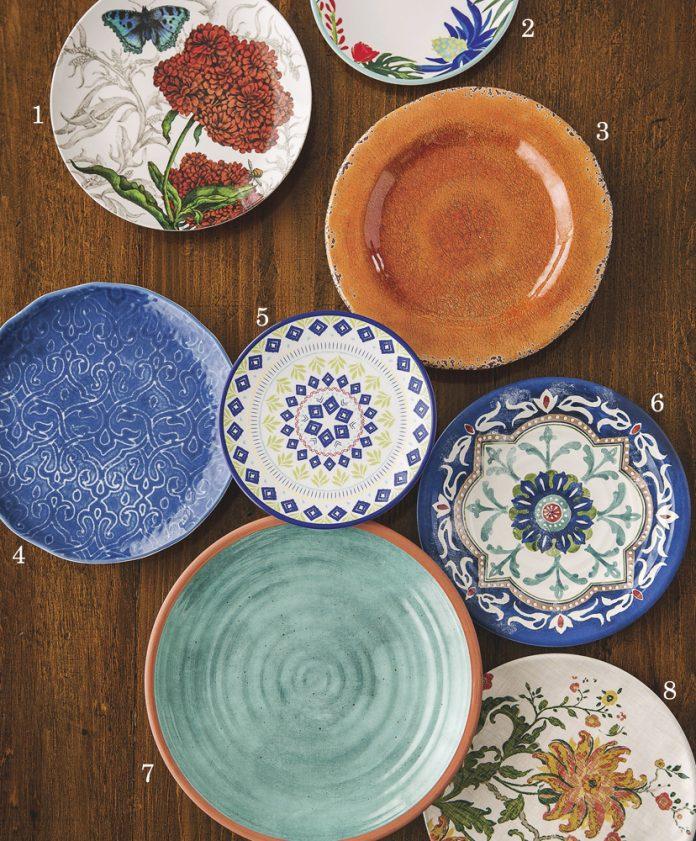 Melamine plates